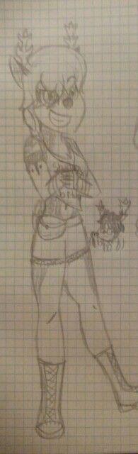 This is and old oc. Her name is Faun and the scared boy is her  friend Ren. They two are deers mutants. *randomly enters in mutant k-12* Faun:hey!nice place! Ren:yeah!