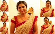 Asha Sarath, Malayalam Actress, Beautiful Saree, India Beauty, Bollywood Fashion, Navel, Blouse Designs, Curvy, Fashion Dresses