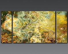 Large triptych abstract expressionism 30x60 by FinnellFineArt, $375.00