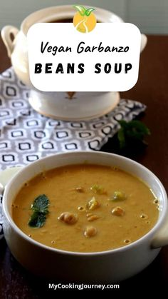A delicious and quick to make chick peas soup with Middle Eastern flavors. The best part is this chick peas soup is made with canned garbanzo beans. Easy Soup Recipes, Chili Recipes, Dinner Recipes, Best Vegetable Recipes, Vegetarian Recipes, Healthy Recipes, Vegan Chili, Vegan Curry, Recipe Maker