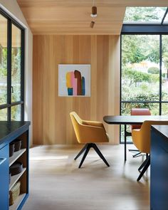 When a New York–based artist couple decided they needed an exurban getaway, they opted out of the usual suspects. No Hamptons, Hudson Valley, or Berkshires. Instead, they cast their net some 3,000 miles away and landed in Mill Valley, California, where they purchased a diminutive cottage. #interiordesign #architecture #getaways Square Side Table, Round Side Table, Soapstone Kitchen, Interior And Exterior, Interior Design, Custom Vanity, Kitchen Stools, Bedroom Chair, Design Within Reach