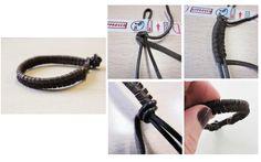 Tuto - On n'y pense pas assez mais ces messieurs peuvent aussi aimer les bracelets. Voici donc le pas à pas d'un bracelet en daim et cuir parfait pour homme >>> http://www.perlesandco.com/Bracelet_tressage_epis_daim_et_cuir-s-2259-18.html