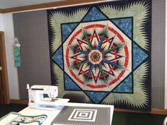 Mariners Compass ~Quiltworx.com, made by CI Susan Sears