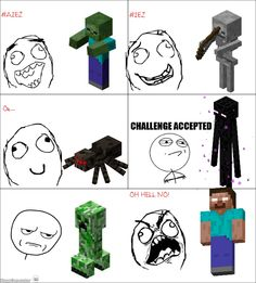 Minecraft Comics~I honestly don't know what I'd do if I saw Herobrine... Probably immediately exit the game and never play again...
