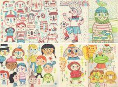 Drawing Doodles Sketchbooks Character Sketchbook by Linzie Hunter, via Behance Character Illustration, Illustration Art, Doodle Characters, Sketchbook Inspiration, Sketchbooks, Doodle Art, Art Inspo, Art Sketches, Design Art