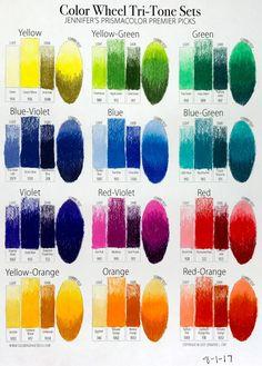 Prismacolor Premier Color Swatches