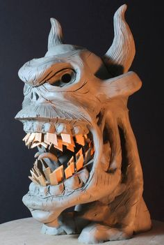 #claysculpture of a #demon of fed by memories of #ragequit from video games for #monsterpedia comic volume 3, front