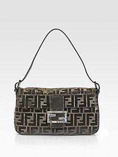 Fendi - Beaded Baguette Shoulder Bag