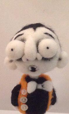 Vic the Vampire art doll needle felted ooak on Etsy, $79.00