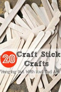 Got craft sticks? Get Crafty! 20 GREAT ideas.
