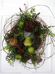 AUTUMN INSPIRATIONS Wispy Natural Grapevine Wreath by funflorals on Etsy