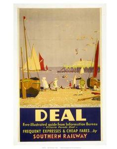 Art Print: Deal Southern Railways Art Print : 14x11in