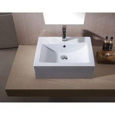 Luxier L-003 Bathroom Porcelain Ceramic Vessel Vanity Sink Art Basin