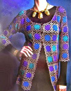 Crochet Sweater: Crochet Cardigan Pattern For Women - Stylish Simple by kellie Crochet Coat, Crochet Cardigan Pattern, Lace Cardigan, Crochet Jacket, Crochet Shawl, Crochet Clothes, Crochet Sweaters, Summer Cardigan, Crochet Motif
