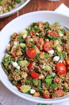 Bulgur Salad with Cherry Tomatoes, Cucumber and Spinach - Green Valley Kitchen