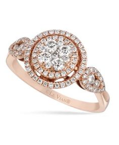 Le Vian Diamond Diamond Circle Ring (5/8 ct. t.w.) in 14k Rose Gold - Rings - Jewelry & Watches - Macy's