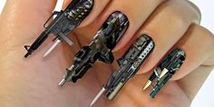Outrageous Nail art includes photo gallery of 18 other designs.