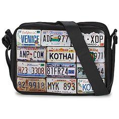 Kothai REPORTER LICENCE PLATE Noir school bag spartoo
