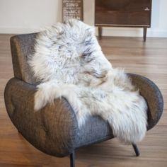 Peau de mouton d'Islande grise - Maison Thuret