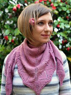 free lace triangle shawl wrap knit pattern