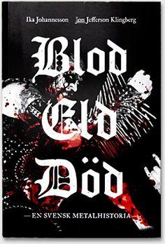 Blod Eld Död, book cover. By EBDC/Spektra