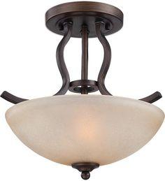 "Maleah 2-Light 13-1/2"" Bronze Semiflushmount Ceiling Light at Menards"