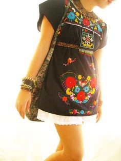 Mexican dress embroidered