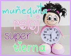 muñeca fofucha con reloj despertador - decora tu habitacion - room decor