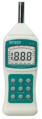 Extech 407750 30 Decibel To 130 Decibel Sound Level Meter With Rs232 Computer Interface And Background Sound Absorber, 2015 Amazon Top Rated Sound Measurement #HomeImprovement