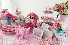 Chá de bebê baby Girl pink Rosa flores