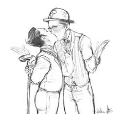 "nygmobblepot-fanart: ""#Nygmobblepot1001kisses 25- unexpected kiss (2°)"""