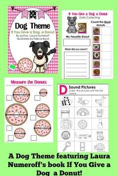 Many fun activities to go with a theme of donuts and If You Give a dog a Donut. The activities are great for the substitute teacher.