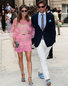 Olivia Palmermo in a Flirty Pink Valentino Dress at the 2012 Valentino Couture Show in Paris