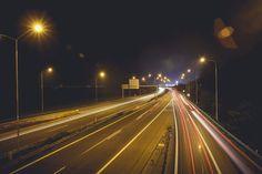 Free Image: Night Car Lights on The Road | Download more on picjumbo.com!