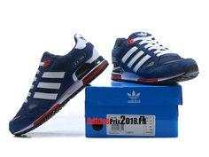 new concept d7bad cf00e ... usa adidas zx 750 chaussures adidas sportswear prix pour homme bleu  foncé blanc rouge 93603 5663c