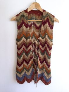 Suede Vest / Hand Woven Original 70s Suede Vest / Boho Hippy Leather Top / Bohemian Sleeveless Suede Cardigan / Rocker Vest This is a hand woven
