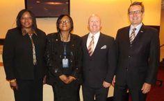 Fatou Bensouda, Prosecuter Elect, International Criminal Court,MS. Ugoji Adanma Eze, Esq. President and CEO, Eng Aja Eze Foundation. Patric...