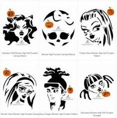 Six Free Monster High Pumpkin Carving Patterns