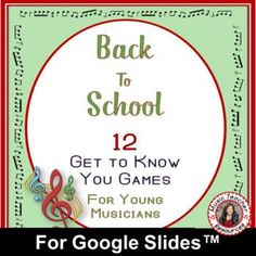 These are excellent first lesson activities from Music Teacher Resources to help students get to know each other and teachers to gain an overview of the students' music background and knowledge as well as their literacy level.♫ This PDF file containing SIXTEEN Ice Breaker activities for young musicians. !This resource is meant to be used with Google Slides™ and can be assigned inside of Google Classroom™; perfect for distance learning.