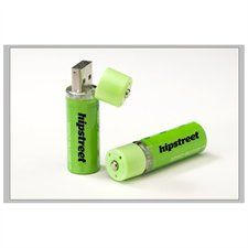 Hipstreet 2 X 2PK AA USB Re-Chargeable Batteries Bundle