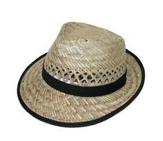 Straw Fedora with 2 Inch Snap Brim by Dorfman Pacific