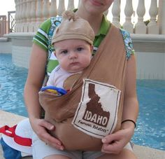 From The Hive: potato costume  -baby wearing costume