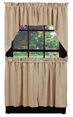 "Au Natural Stripe Window Curtain Swag 72"" x 36"""