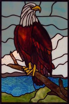 Stained glass patterns for free – stained glass eagle patterns 237