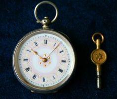 Ladies Silver Watch - Swiss Hallmarks C.  1890 ' S Working, photo