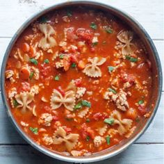 Chicken Minestrone Soup This delicious minestrone soup will be on the table in just 30 minutes.