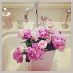 Peonies at home
