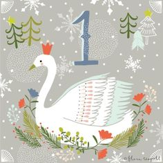 Flora Waycott Christmas Advent DAY 1 - Happy December! I will be illustrating a Christmas countdown every day until the 24th. Please follow along! xx