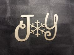Joy with Snowflake Connected Wood Decor