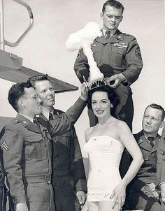 Linda Lawson wearing the Atomic Bomb Crown in 1955. - Vegas